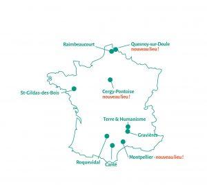 Carte des lieux de stage